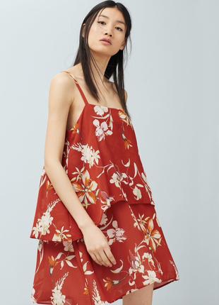Воздушное платье с цветами сарафан   - акция 1+1=3 на всё 🎁