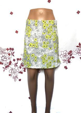 Стильная юбка в цветы   - акция 1+1=3 на всё 🎁