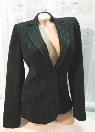 Стильный пиджак черный в полоску new look