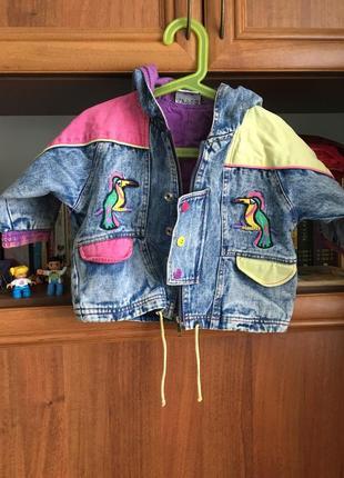 Стильная джинсовая курточка на модницу 1,5лет