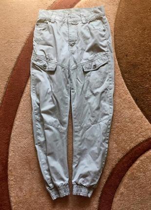 Штаны брюки карго джоггеры высокая талия джогери унисекс