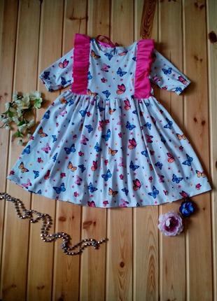 Трикотажное платье для деочки