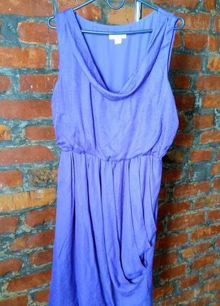 Платье с драпировкой из мокрого шелка monsoon