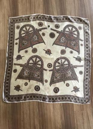 Шелковый платок, принт мельница колесо