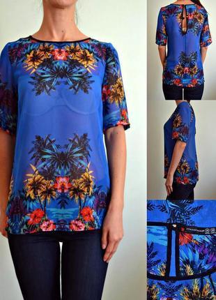 Яркая шифоновая блуза 10