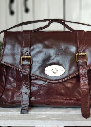 James lakeland 100 % оригинальный английский кожаный портфель.