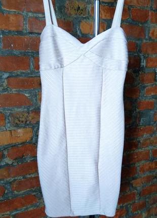 Стильное облегающее бандажное платье сарафан футляр miss selfridge
