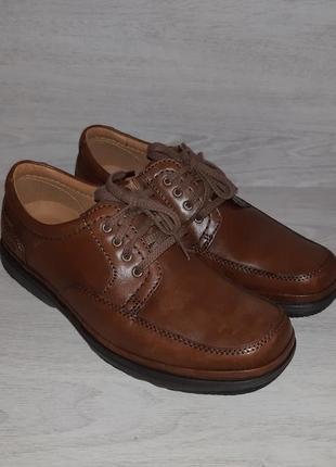 Кожаные туфли clarks flex light оригинал