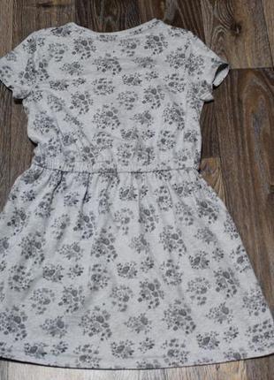 Трикотажное платье f&f на девочку 9-10 лет в идеальном состоянии