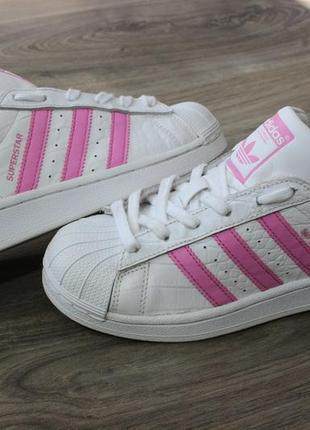 Кроссовки adidas superstar натур. кожа 35-36 размер оригинал