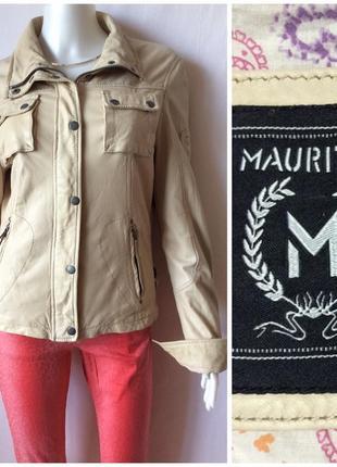 Mauritius светлая куртка из тонкой кожи в стиле гранж косуха
