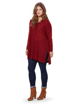 Трикотажная тонкая туника -пуловер тсм  tchibo германия , размер 48-50 евро, наш 56