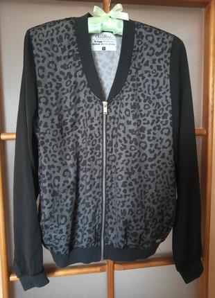 Леопардовый бомбер, летняя курточка, накидка, ветровка