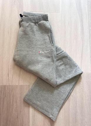 Базові сірі спортивні спортивные штани спортивки з логом champion оригінал оригинал котон