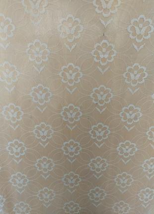 Гардина занавеска тюль белая в маргаритках 294х240 см
