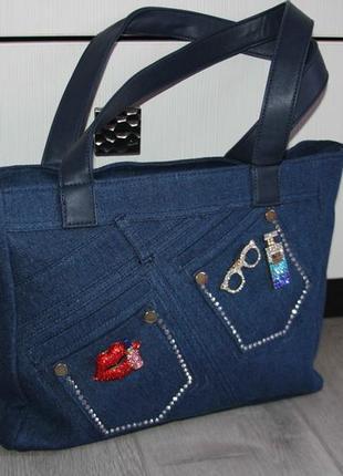 Очень красивая джинсовая сумка