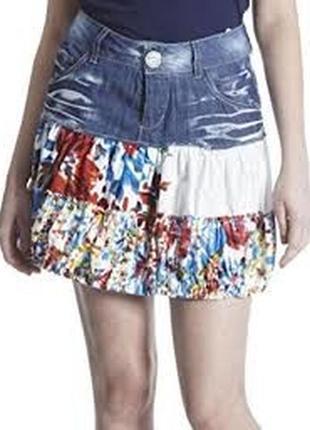 Комбинированная юбка от desigual