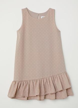 Платье h&m c воланами 5-6y {116см }