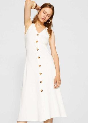 Летнее платье , сарафан с деревяными пуговицами