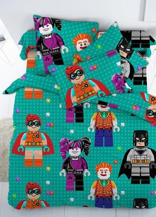 Лего бэтмен -натуральное постельное белье из поплина 100 % хлопок