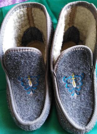 Тёплые ботиночки- тапки.
