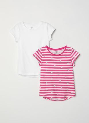 2 футболки h&m 1-2y {92см }