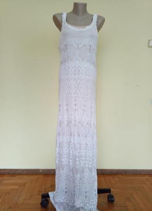 Шикарное длинное ажурное платье