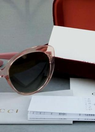 Gucci очки женские солнцезащитные поляризированые в розовой прозрачной оправе