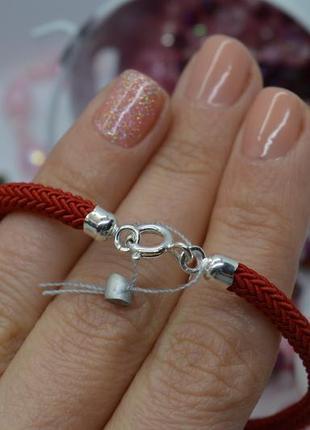 Серебряный #браслет, #красная_нить, #оберіг, #на_руку, #унисекс, #925, все размеры