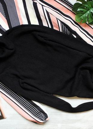 Базовый черный гольф с ткани в рубчик marks & spencer