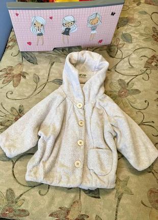 Курточка тканевая на малышку ( рост 67см)