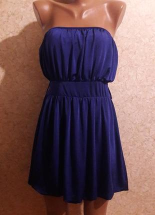 Торг! фиолетовое мини-платье без брителей