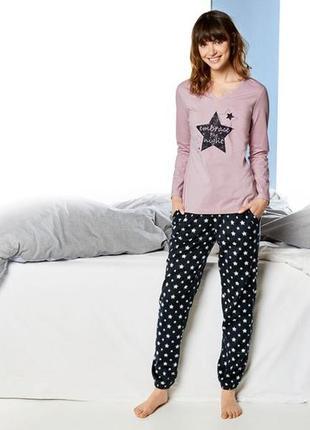 Флисовые пижамные штаны esmara lingerie евро 44-46