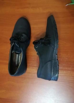 Туфли на шнурках. нубук