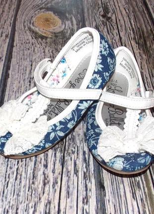 Новые фирменные туфли для девочки, размер 7
