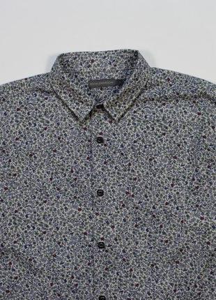 Классная цветочная приталенная рубашка от rocha john rocha