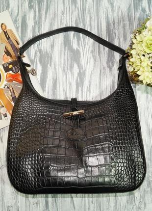 Longchamp. кожа. франция. оригинал. красивая фирменная сумка в классическом стиле