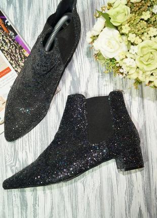 Topshop. роскошные блестящие ботинки, ботильоны на низком ходу