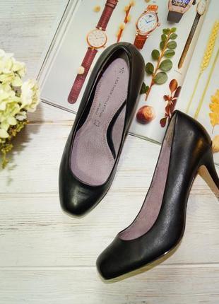 Next! кожа! красивые фирменные туфли на удобном каблучке