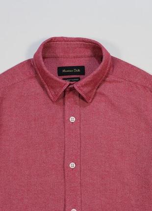 Сочная приталенная качественная рубашка от massimo dutti