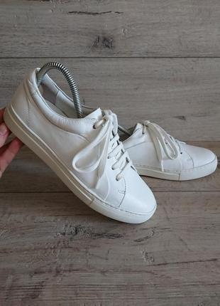 Белые кеды кроссовки jones bootmaker 38 р 24,5 см