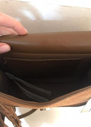 Кожаная сумка с бахромой mango5 фото
