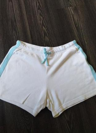 Трикотажные короткие шорты  george   р. 38 м  белые