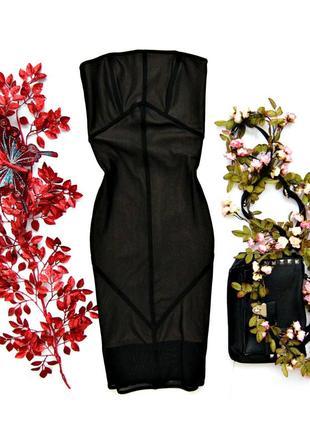 Эффектное, облегающее платье бюстье