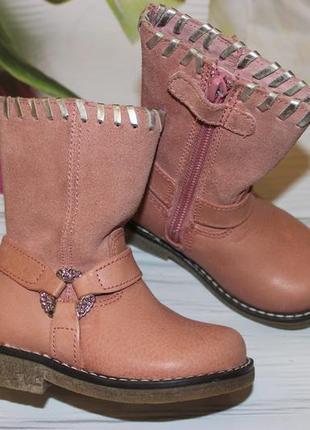 Очень красивые и нежные ботиночки, кожа размер 20