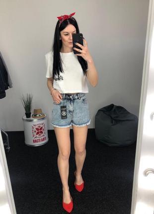 Джинсовые шорты высокая посадка винтаж мом момы
