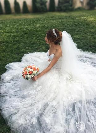 Свадебное платье невесты корсет со шлейфом / весільна сукня