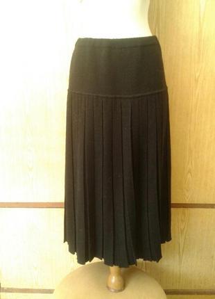 Черная плотная юбка , l - xl.2 фото