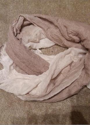 Женский большой платок палантин шаль хомут италия