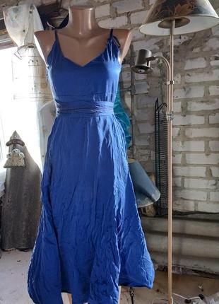 Летнее платьице цвет а электрик р-р46